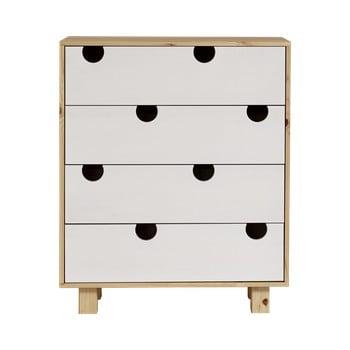 Comodă cu patru sertare Karup Design House Natural/White de la Karup Design