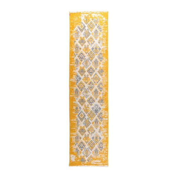 Covor cu 2 fețe Halimod Maleah, 77x300cm, galben-gri