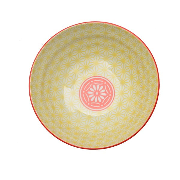 Porcelánová miska Star Yellow, 21 cm