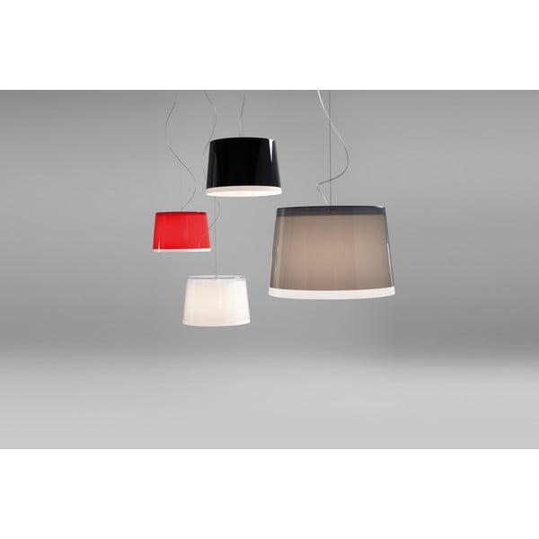 Závěsné svítidlo Pedrali L001S/BB, červené transparentní