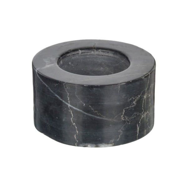 Černý mramorový svícen na čajovou svíčku Native Luxury, ⌀ 7 cm