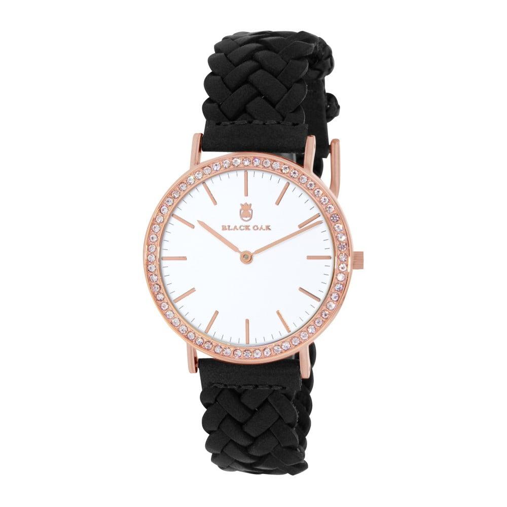Černé dámské hodinky Black Oak Boho Diamond Rose