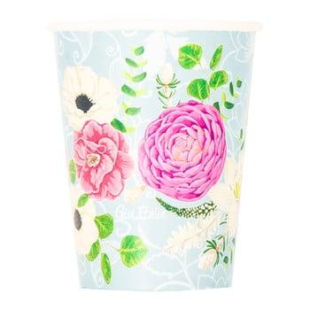 Set 8 pahare din hârtie GiviItalia Secret Garden, 250 ml imagine