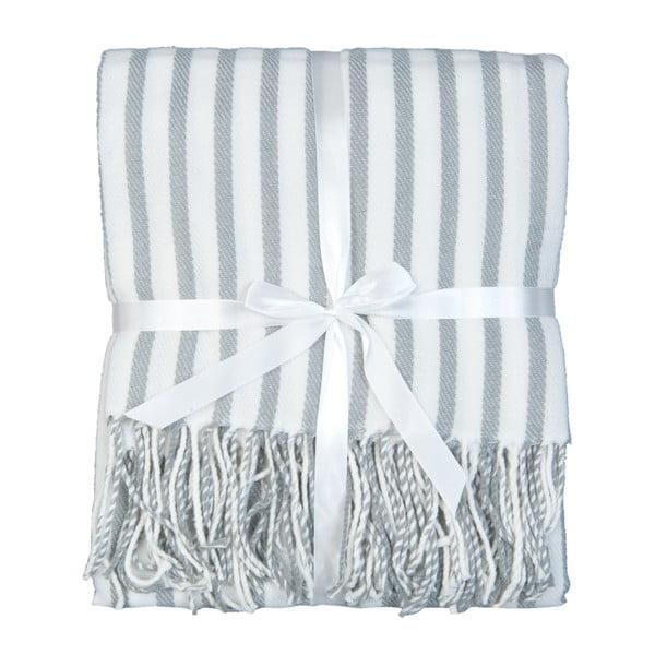 Pléd Lines 130x150 cm, šedo-bílý