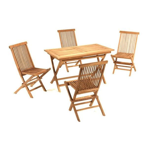 Zahradní stůl a 4 židle Santiago Pons Girona Natural