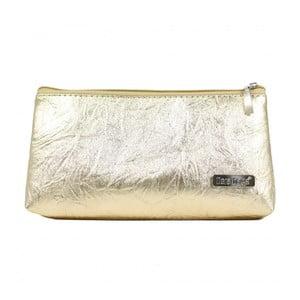 Kosmetická taštička ve zlaté barvě Dara bags Baggie Middle No.732