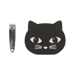Sada pilníčku a kleštiček na nehty Sass & Belle Black Cat