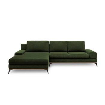 Canapea extensibilă de colț Windsor & Co Sofas Planet, pe partea stângă, verde de la Windsor & Co Sofas