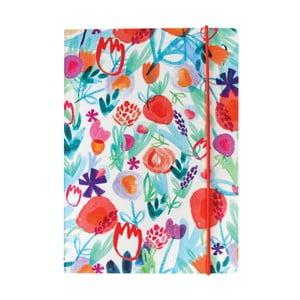 Zápisník A5 Portico Designs Spring Floral, 160stránek