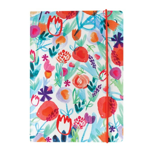 Spring Floral jegyzetfüzet, A5, 160 oldalas - Portico Designs
