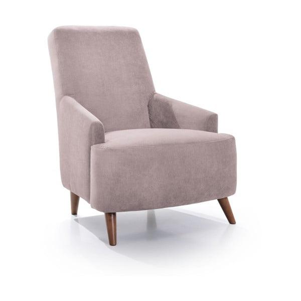 Różowoszary fotel Softnord Slope