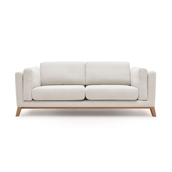 Kremowa sofa 2-osobowa Bobochic Paris Seattle
