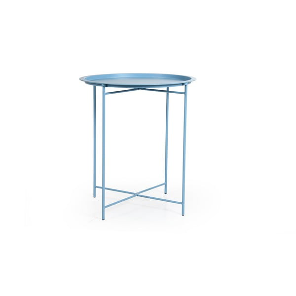 Modrý zahradní stolek Brafab Sangro, ∅46cm