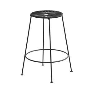 Černá barová stolička OK Design Acapulco, výška66cm