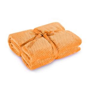 Pătură din microfibră DecoKing Henry, 150 x 200 cm, portocaliu