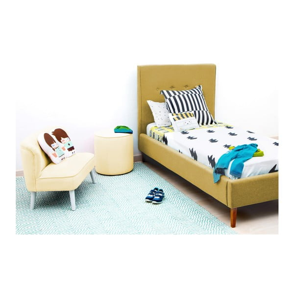 Dětská žlutá postel PumPim Noa, 200x90cm
