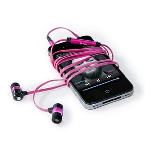 Sluchátka hi-Earphones, růžová