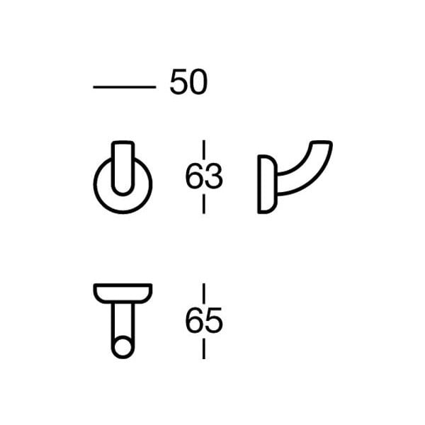 Věšák Nikmatt Cloths, 5x6x6,5 cm
