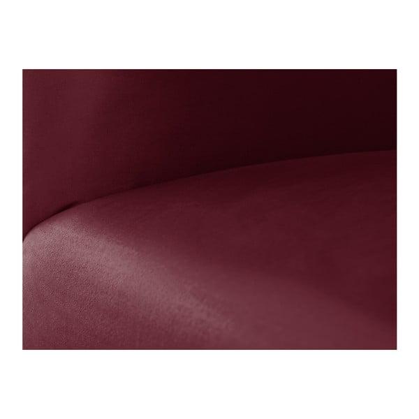 Vínově červená modulová rohová třímístná pohovka Norrsken Ebbe