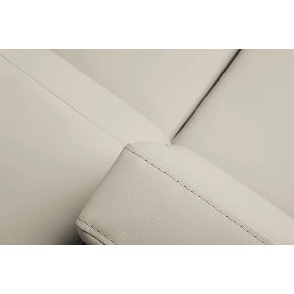 Béžová rozkládací rohová pohovka koženkového vzhledu Windsor & Co Sofas Gamma, levý roh