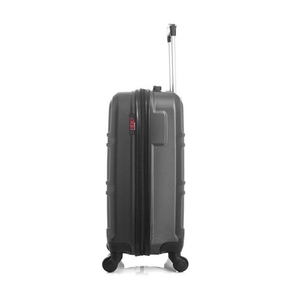 Tmavě šedý cestovní kufr na kolečkách Hero Utah, 37 l