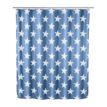 Perdea duș Wenko Stella, 200 x 180 cm, albastru închis imagine