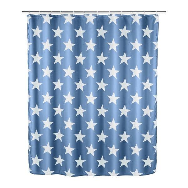 Stella sötétkék zuhanyfüggöny, 180 x 200 cm - Wenko