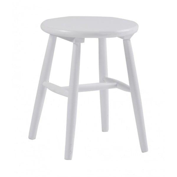 Bílá dřevěná stolička Folke Python, ⌀ 36 cm