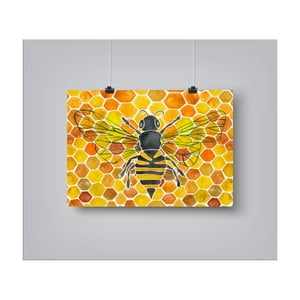 Plakát Americanflat Honey Bee Comb, 30 x 42 cm