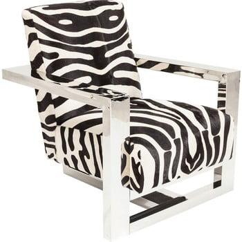 Fotoliu cu model zebră Kare Design Wildlife Zebra
