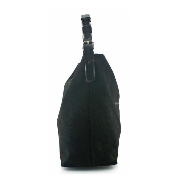 Kožená kabelka Boscollo Black 3185