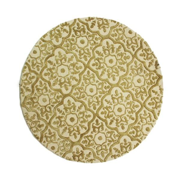 Béžový ručně tkaný koberec Flair Rugs Knightsbridge, ø150cm
