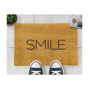 Rohožka z přírodního kokosového vlákna Artsy Doormats Smile,40x60cm