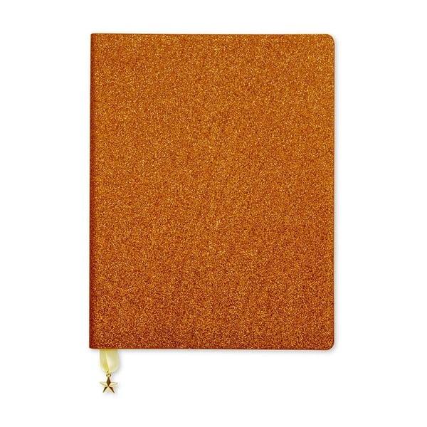Glitter rézszínű jegyzetfüzet - GO Stationery