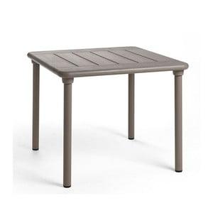 Béžovošedý zahradní stůl Nardi Garden Maestrale, 90x90cm