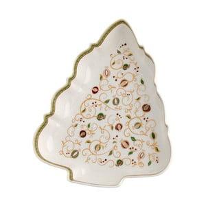 Bílá servírovací miska s vánočním motivem Brandani Tempo di Festa