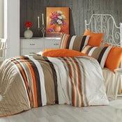 Lenjerie de pat din bumbac cu cearșaf și fețe de pernă Touch, 200 x 220 cm
