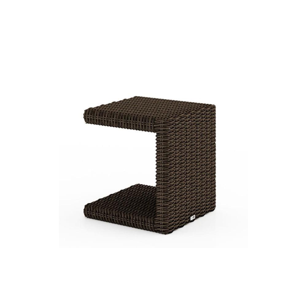 Hnědý záhradní příruční stolek Oltre Romeo