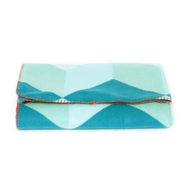 Flísová deka Block Blue, 180x150 cm