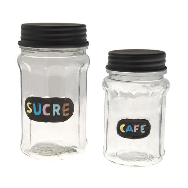 Sada 2 skleněných dóz Sucre & Cafe