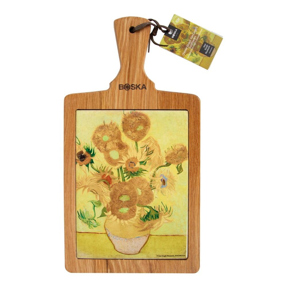 Servírovací prkénko Boska Serving Board Van Gogh Sunflowers, 25 x 18 cm