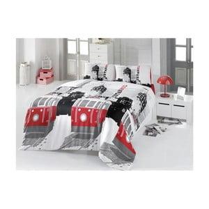 Lenjerie de pat cu cearșaf din bumbac Marcy, 200 x 220 cm