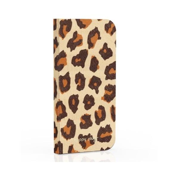 Překlápěcí obal Happy Plugs na iPhone 5 Leopard