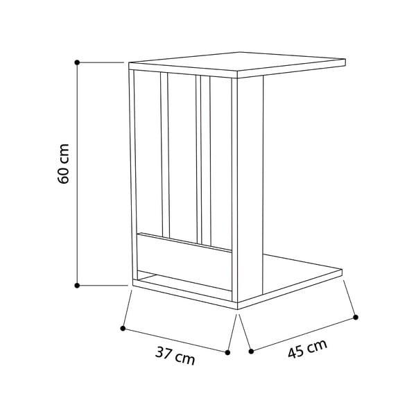 Bílý odkládací stolek Edi