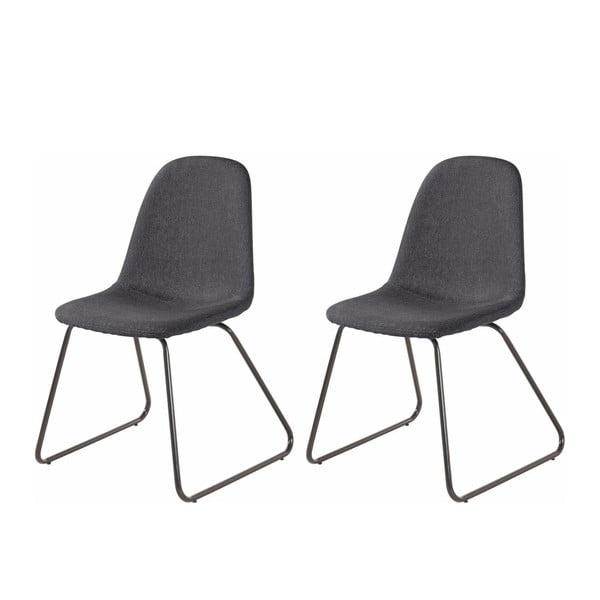 Sada 2 tmavě šedých jídelních židlí Støraa Colombo