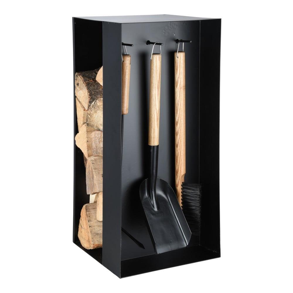 Set krbového nářadí a zásobníku na dřevo Esschert Design Warm