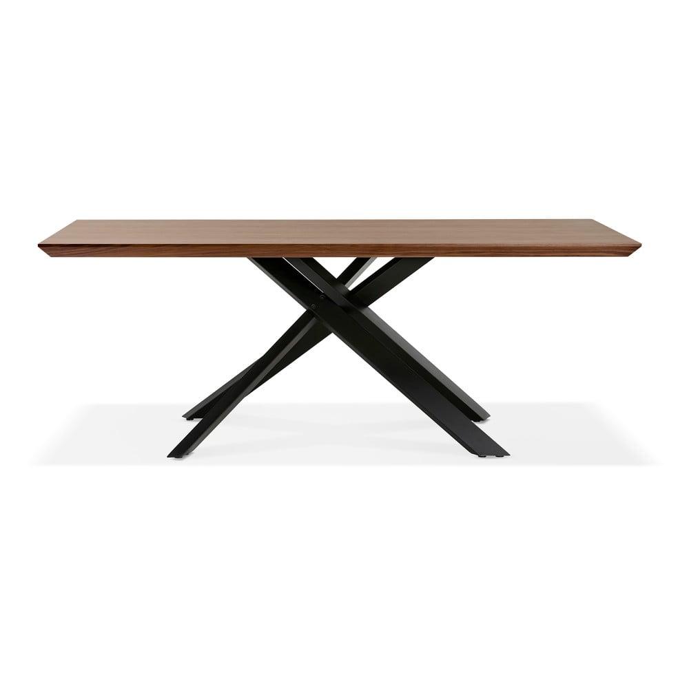 Hnědý jídelní stůl s černými nohami Kokoon Royalty, 200 x 100cm