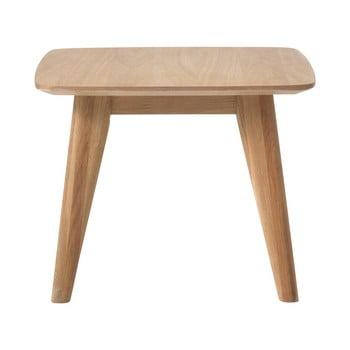 Masă auxiliară cu picioare din lemn de stejar Unique Furniture Rho