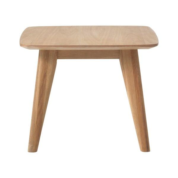 Stolik z nogami z drewna dębowego Unique Furniture Rho, 60x60 cm