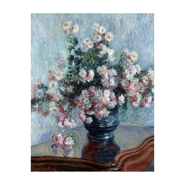Obraz Claude Monet - Chrysanthemums, 50x40 cm
